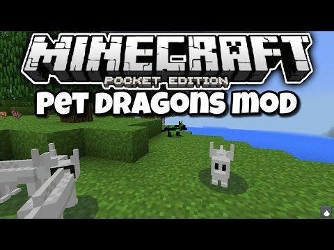 [0.13.1] Minecraft PE - TRAIN YOUR OWN DRAGON! - Pet Dragons Mod Showcase