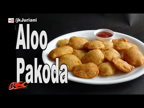 Recipe: Aloo Pakoda (Crispy Potato Fritters) | How to make | JKs Kitchen 047