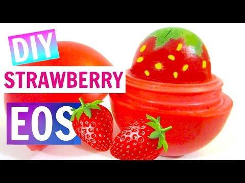 DIY Strawberry EOS | How to Make EOS Lip Balm