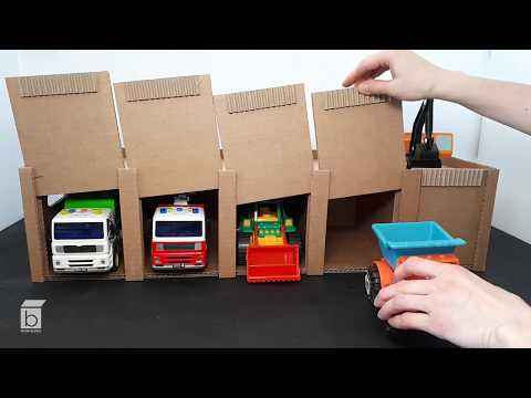 How to make a Cardboard Car Garage with a sliding door