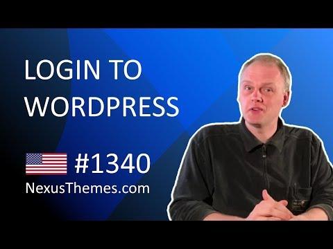 Login to WordPress | NexusThemes.com #1340