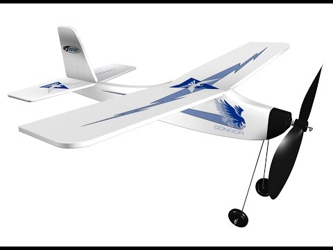 Estes Condor Rubber Band Powered Plane Build and Fly Indoor Outdoor