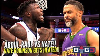 """Nate Robinson vs The """"OG Steph Curry"""" Mahmoud Abdul-Rauf!! Nate Gets SHIFTY & HEATED at The Big 3!!"""