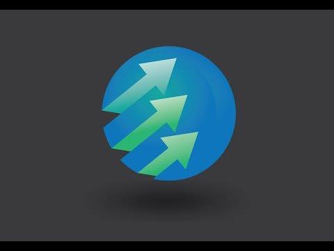 Illustrator Tutorial Round Arrow Logo Design vector