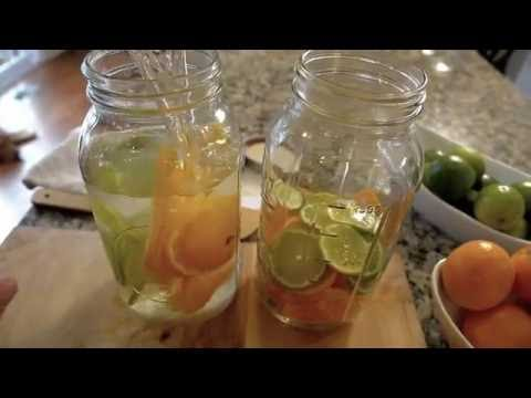 How To make orange infused water