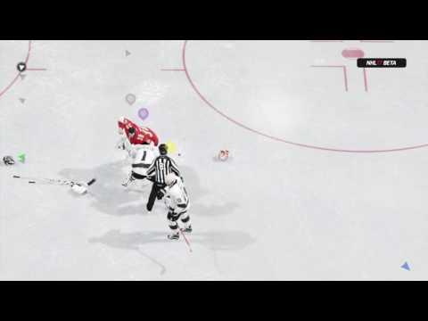 NHL™ 17 Beta - EAHL first fight online.