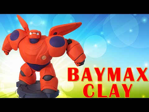 How To Make Disney Baymax Big Hero 6 Playdough Air Dry Clay -  Surprise Play Doh Toys For Children