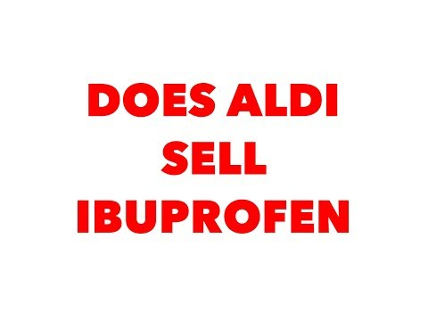 Does aldi sell ibuprofen