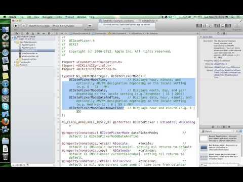 UIDatePicker customisation and IBAction methods