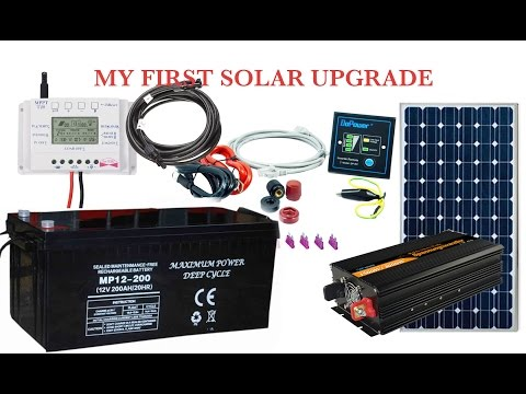 MY FIRST SOLAR SYSTEM UPGRADE TO 2OOAH DEEP CYCLE BATTERY