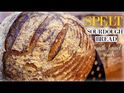 Spelt Sourdough Bread with Fennel Seeds - Mediterranean-Inspired Recipe