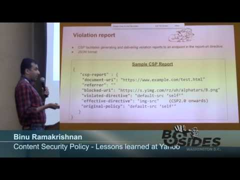 BSides DC 2015 - Content Security Policy - Lessons learned at Yahoo