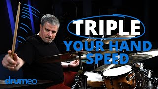 Triple Your Hand Speed On The Drums - Russ Miller