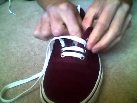 How to bar lace your vans.