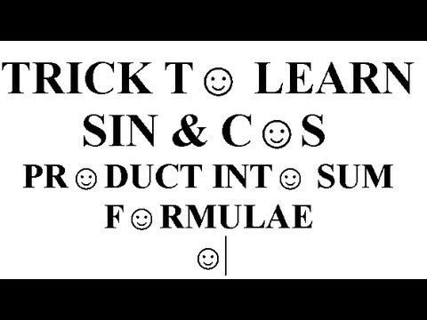 Maths TRICK  Easiest way to Memorize Sin Cos Product into Sum formula