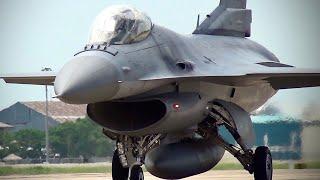 """RSAF F-16C """"JERKY"""" Solo 100 ปีการบิน @ ดอนเมือง"""