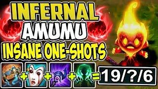 INFERNAL AMUMU TOP LANE | THIS IS SO BROKEN INSANE ONE-SHOTS | Amumu S8