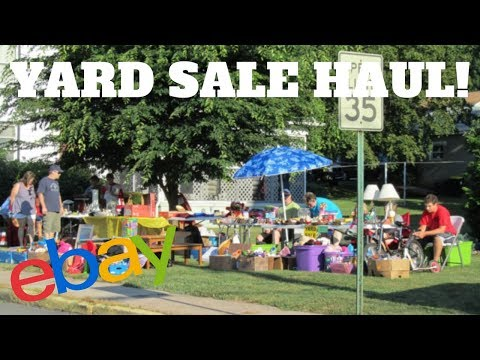 Yard Sale Ride Along and Haul for Amazon and Ebay | Make Money Selling Online