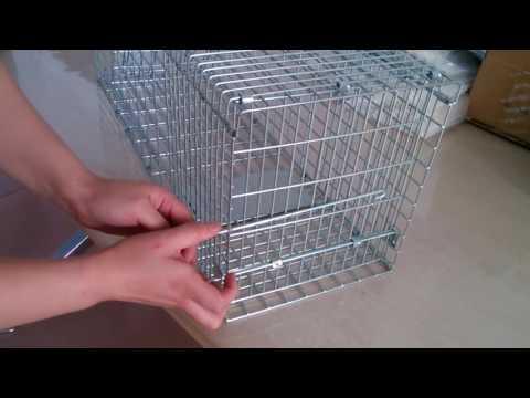 Raccoon, Squirrel,Possum, Feral Cat cage trap assemble video  China Manufacturer