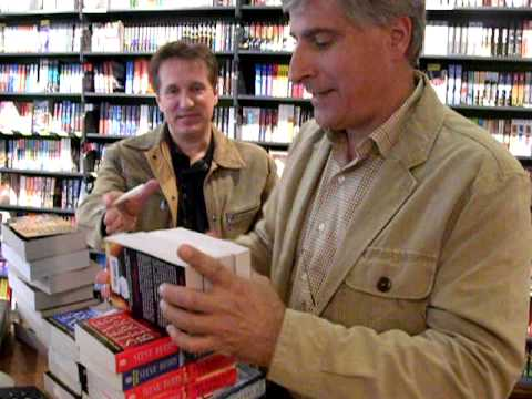 James Rollins & Steve Berry's flash signing   ABC Amsterdam