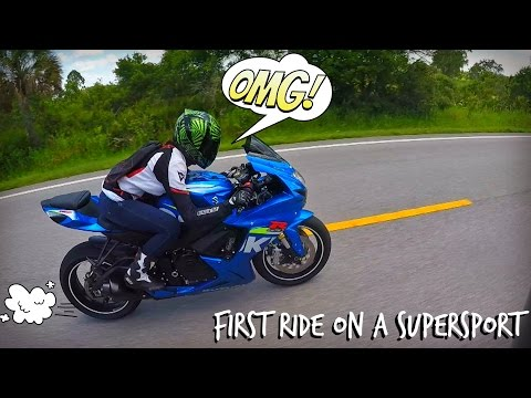 Girl Rides a GSXR Sport Bike For The First Time!