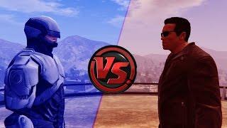 Terminator VS Robocop - Epic Battle (GTA 5)