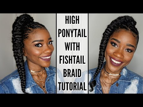 High Ponytail With Fishtail Braid | Perfect For Spring Break!