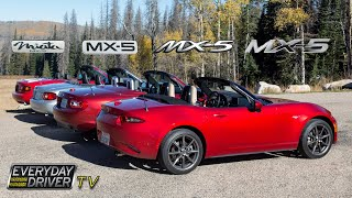 Which is Best? - Driving all Four MX5 / Miatas - Everyday Driver Comparison Review