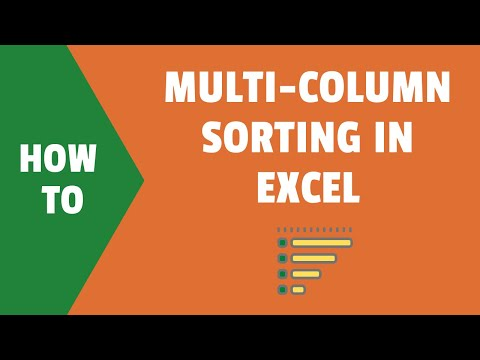 How to Do Multi level sorting in Excel (by two Columns)