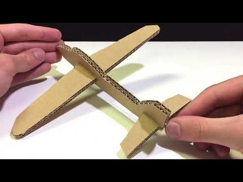How to Make a Cardboard AirPlane that Flies