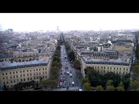View of PARIS FRANCE from the top of the Arc de Triomphe