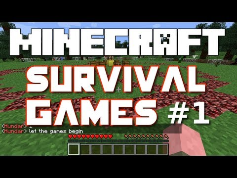 Minecraft Survival Games - Part 1 (Hosted by iHasCupQuake)