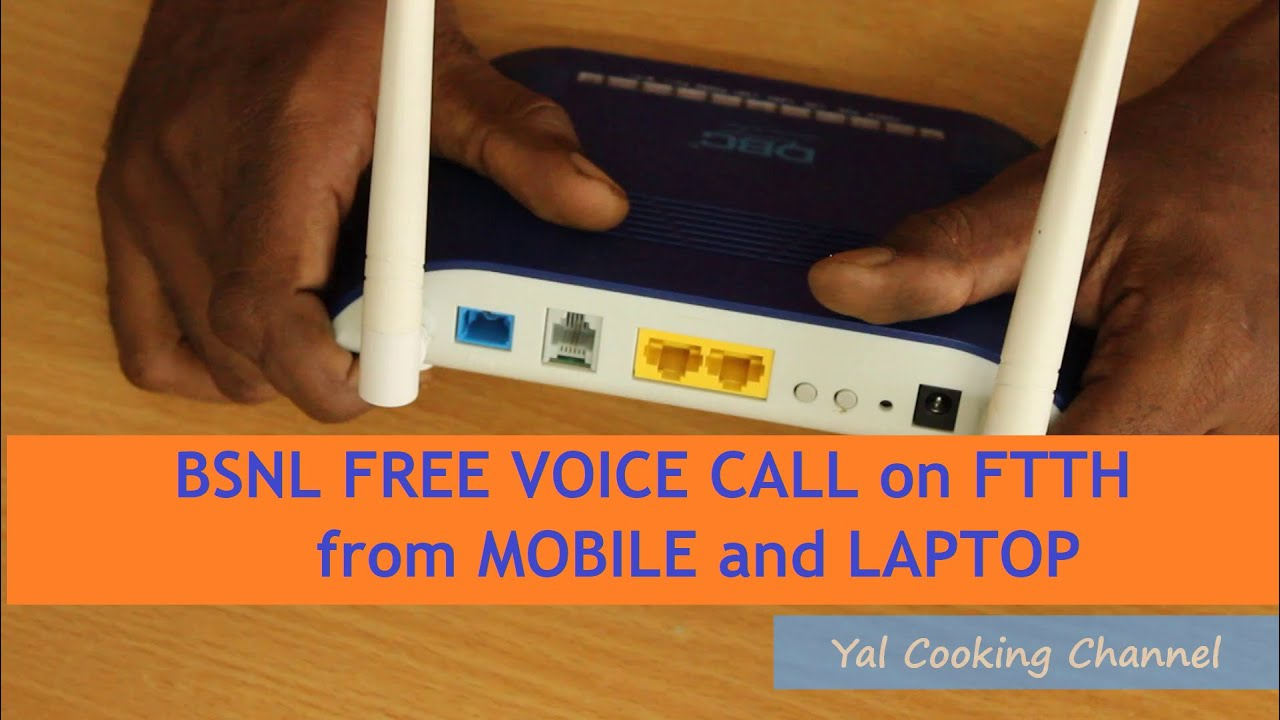 Make FREE Unlimited Outgoing Phone Calls from your MOBILE and LAPTOP through BSNL FTTH