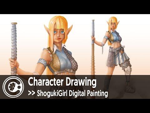 Characer Drawing: ShogukiGirl Digital Painting
