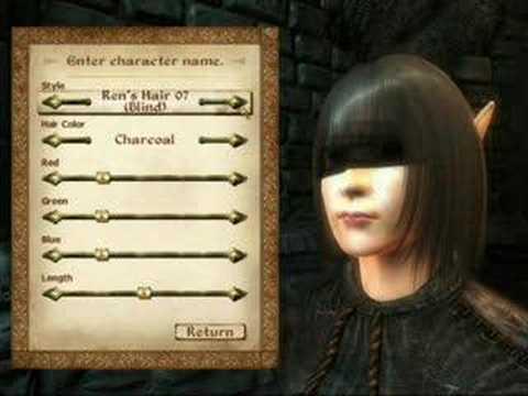 Oblivion hair mod