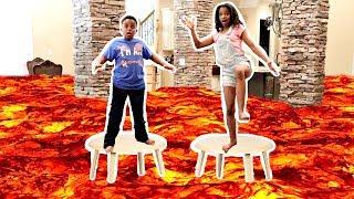 THE FLOOR IS LAVA CHALLENGE!! - Shiloh and Shasha - Onyx Kids