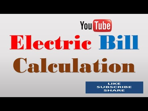 electric bill calculation | Electrical Power Consumption Calculation [hindi/urdu]