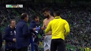 Insólito: Felipe a jogar com a camisola de Soares (Sporting - Porto)