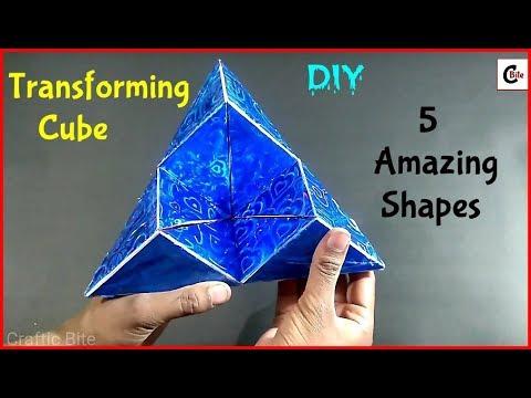 DIY | How To Make Amazing Transforming Cube From Paper With Measurements | Paper Art and Craft
