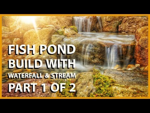 How to Build a Fish Pond and Stream / Waterfall - Part 1 Pond Renovation by Atlantis Water Gardens