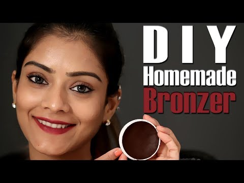 DIY Homemade Bronzer | How to Make Bronzer At Home | Homemade Natural Bronzer | Foxy Makeup Tutorial