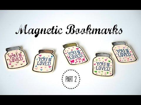DIY Mason Jar Magnetic Paper Bookmarks