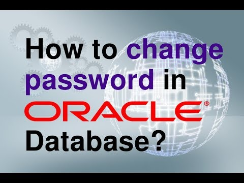 how to change password in oracle database?