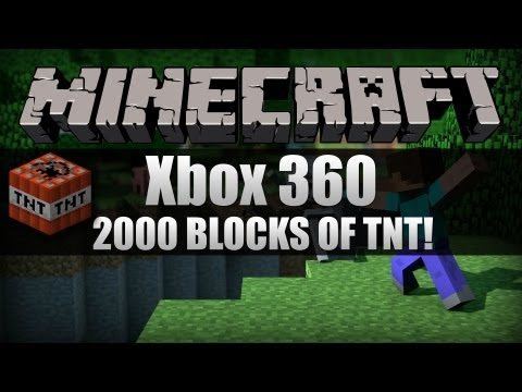 [HD] Minecraft for Xbox - Blowing up my world with TNT