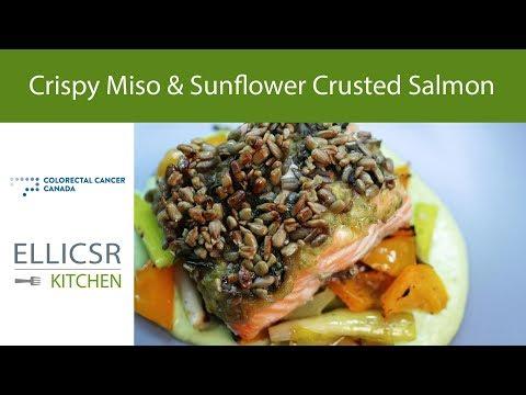 Crispy Miso & Sunflower Crusted Salmon