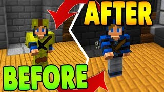 INVISIBLE ARMOR + HEARTS TEXTURE PACK CHALLENGE! (Hypixel Bedwars)