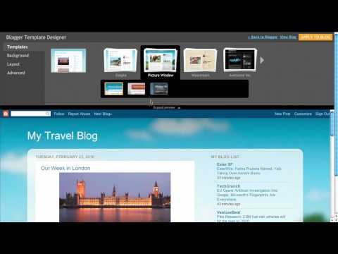 Introducing the Blogger Template Designer