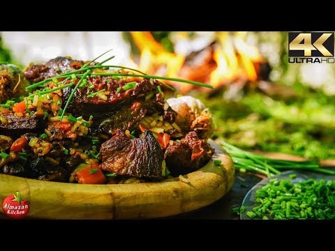 GODLIKE FOOD! - Primitive Plov 4K