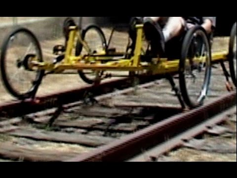 Dual-Purpose Pedal Car - Street or Abandoned Railroad