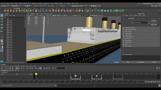 (WIP) RMS Titanic, 3D Model, Made with Maya! (College project)